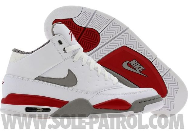 new product 372f5 1772e nike-air-flight-classic-white-red-grey02