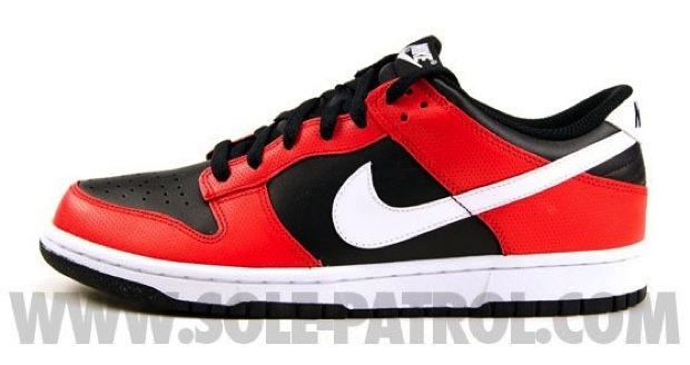 Nike Dunk Low - Black / White - Sport Red