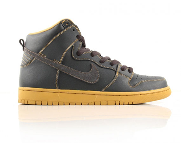 Nike SB Dunk High Anthracite/Gold (2)