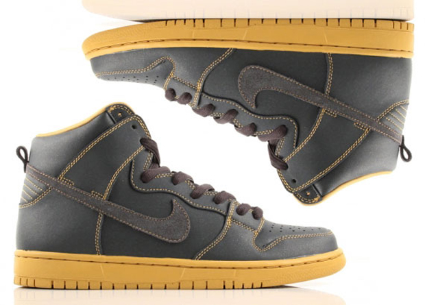 Nike SB Dunk High Anthracite/Gold (1)
