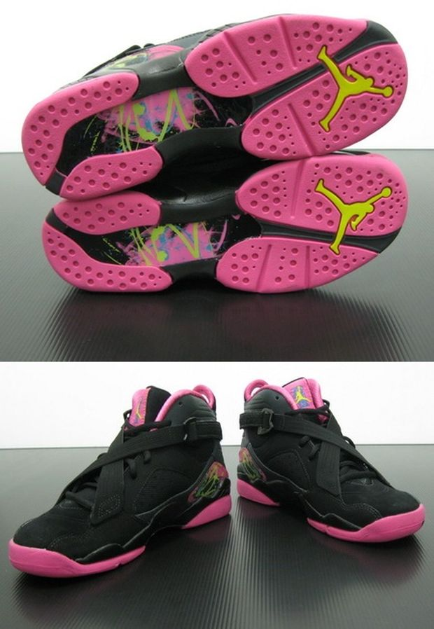 air-jordan-8.0-GS Black / Hot Pink (4)
