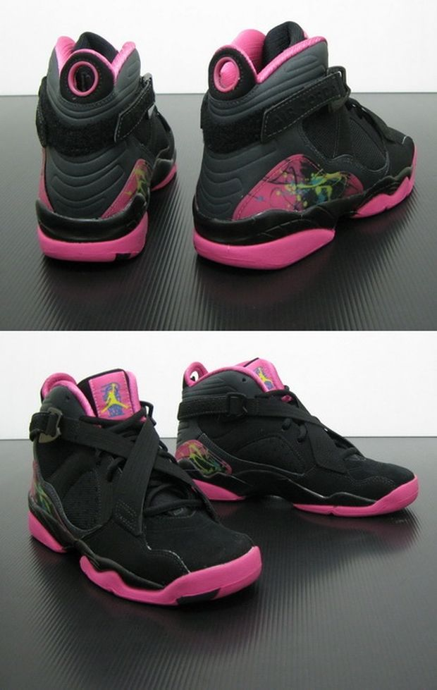 air-jordan-8.0-GS Black / Hot Pink (3)
