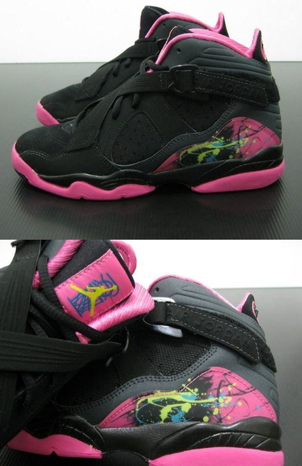 air-jordan-8.0-GS Black / Hot Pink (2)