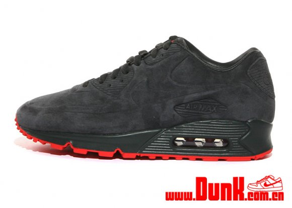 nike air max 90 vt suede anthracite orange