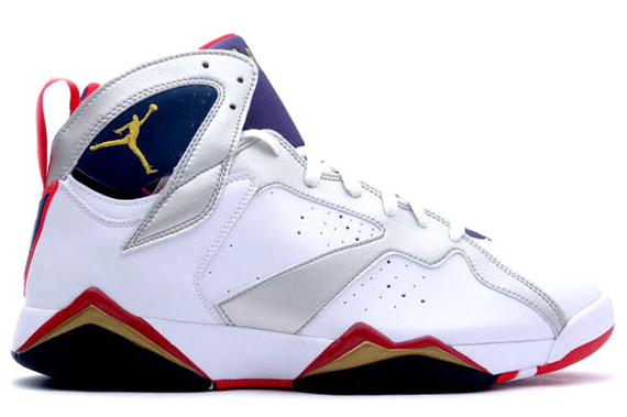 air jordan 7 vii retro olympic white metallic gold midnight navy true red 11
