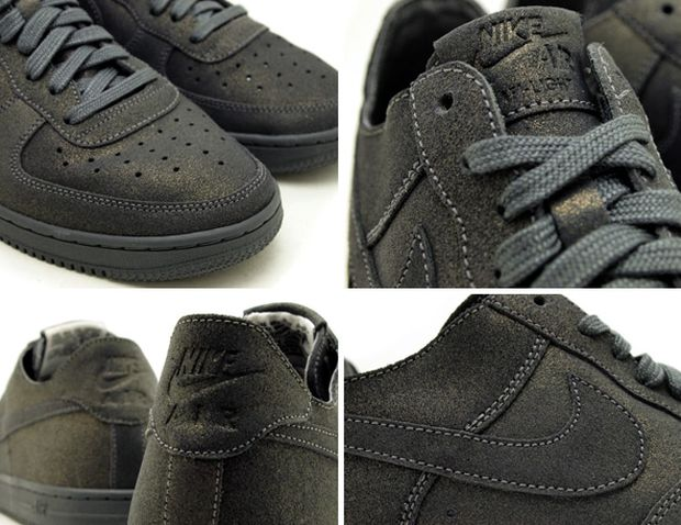 """the latest 53471 b72a3 Following the """"Julep"""" Nike Air Force 1 Low Light, comes another colorway  that sports a Metallic Dark Grey ..."""