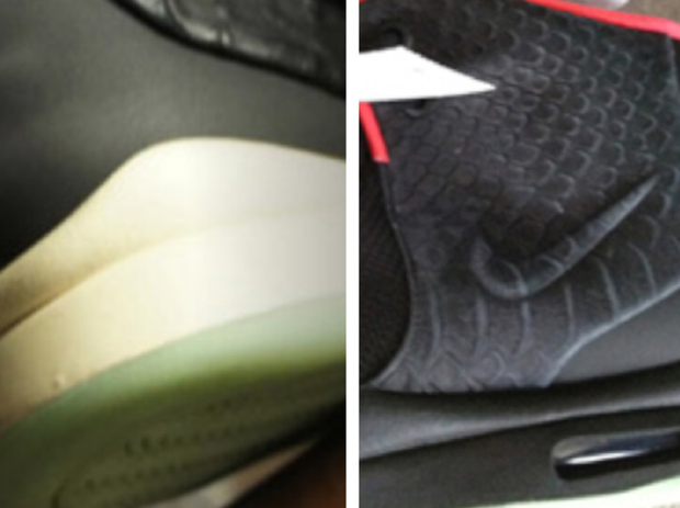 nike air yeezy 2 comparison
