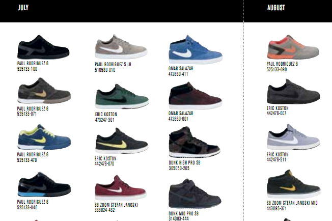 premium selection 03b5e 1fec7 Nike SB 2012 Summer Catalog