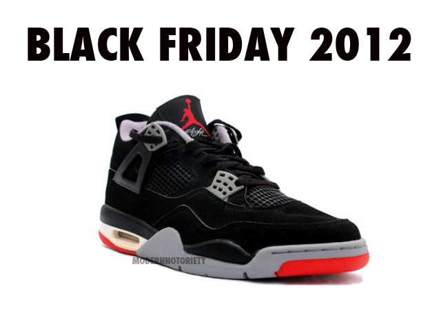 Air Jordan 4 Bred Confirmed For Black Friday 2012