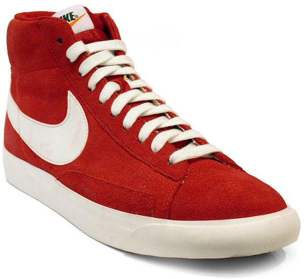 nike blazers red and white