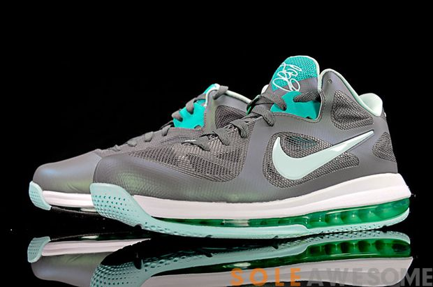 "the latest 4841a 8d212 Nike Lebron 9 Low ""Easter"" Dark Grey Mint Candy-CL Grey-New Green 510811-001.  TAGS ..."