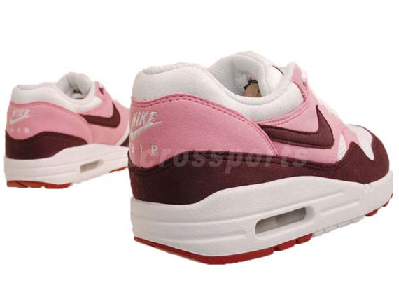 the latest 5d7db 0e67a Nike WMNS Air Max 1 Pink Cooler  Red Mahogany