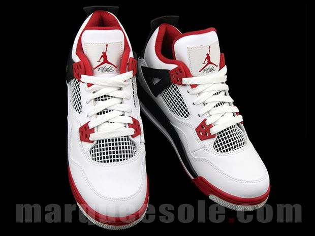"2012 Nike Air Jordan Retro 4 GS ""Fire Red""-Images « The Closet ... ddd23b13a"
