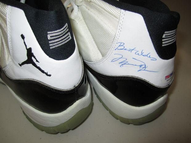 Air Jordan 11 'Concord' Signed and Worn