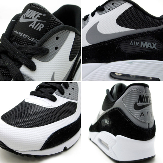 Nike Air Max 90 Hyperfuse White Black Grey Red