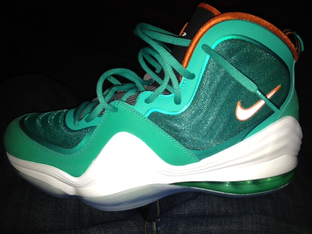 new style 24b96 8c3f9 Nike Air Penny 5  Miami Dolphins