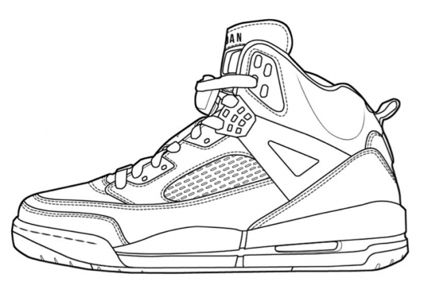Jordan 12 free coloring pages for Basketball shoe coloring page