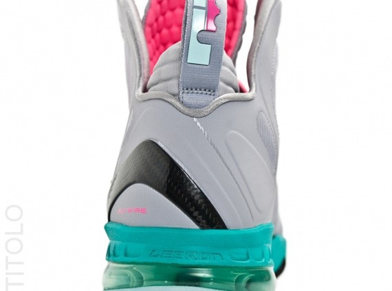 super popular f8e62 5db55 nike-lebron-9-ps-elite-wolf-grey-mint-candy-new-green-pink-flash-titolo-2