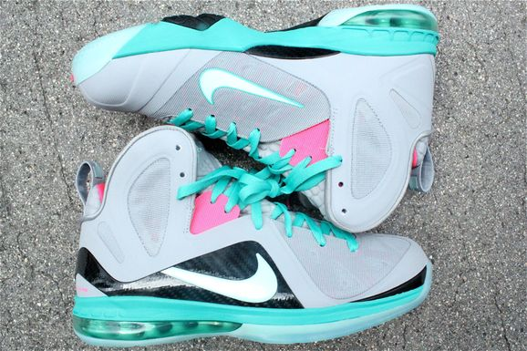 official photos c79f7 1a309 Nike Lebron 9 Elite –  Miami Vice  Arriving at Retailers
