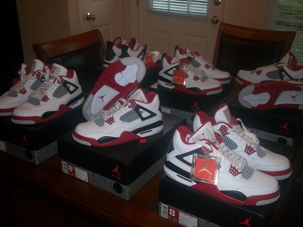 air jordan 4 retro fire red for sale