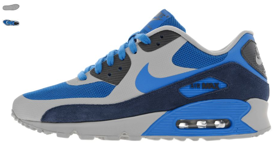 womens air max 90 hyperfuse blue grey