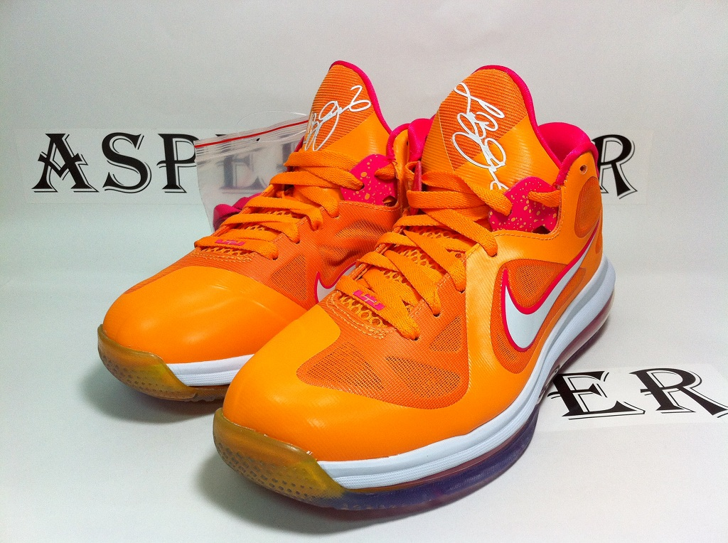 Hot Deal Nike Lebron 9 Low Silver Blue Pink