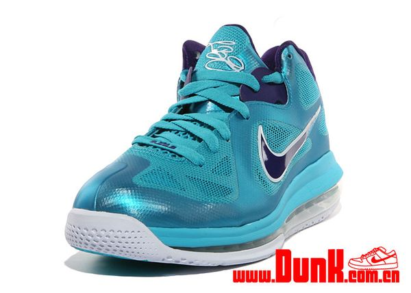 ... nike air max lebron 9 low turquoise blue court purple ...