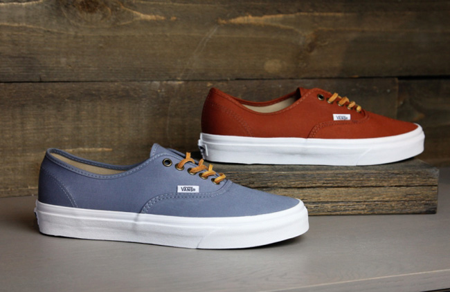 c4798d658a Vans has brought back the popular Authentic CA line for summer 2012. This  time they feature two new colorways in a brushed twill design.