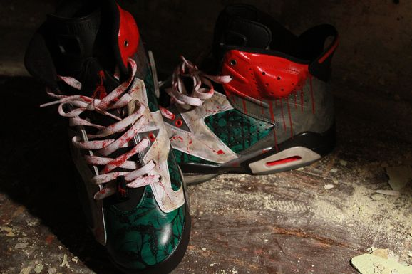 El Cappy continues his horror movie inspired customs with another Air  Jordan 6 ...