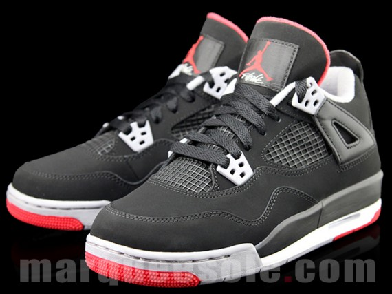 "d00255592ef4 Holiday 2012 Nike Air Jordan Retro 4 ""Bred"" GS-First Images « The ..."