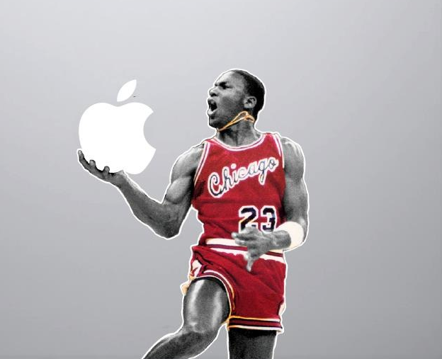 Michael Jordan 1985 Slam Dunk Macbook Decal