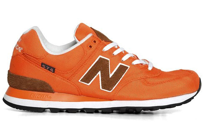 new balance 574 brown orange