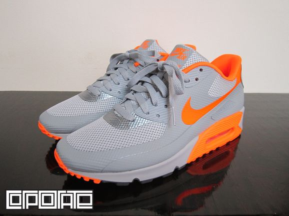 957980eb1bad Nike Air Max 90 Hyperfuse - Grey - Orange