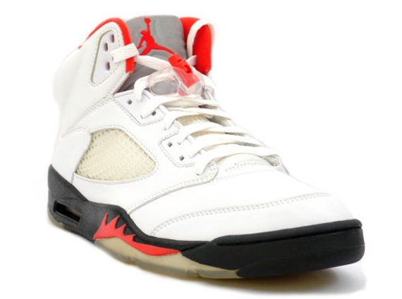 new styles 01503 ae77d Air Jordan 5 Retro - White - Black - Fire Red - Release Date