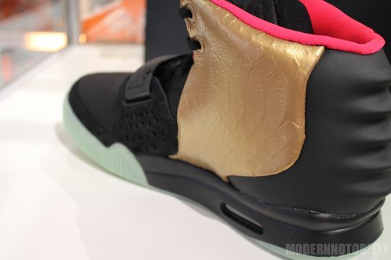 Nike Air Yeezy 2 - Black And Gold Custom By PMK