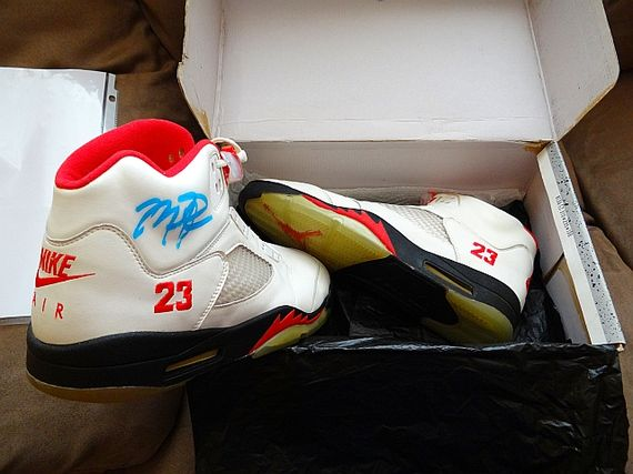 OG Air Jordan 5 –  Fire Red  Autographed – Available on Ebay  5d5a092d5