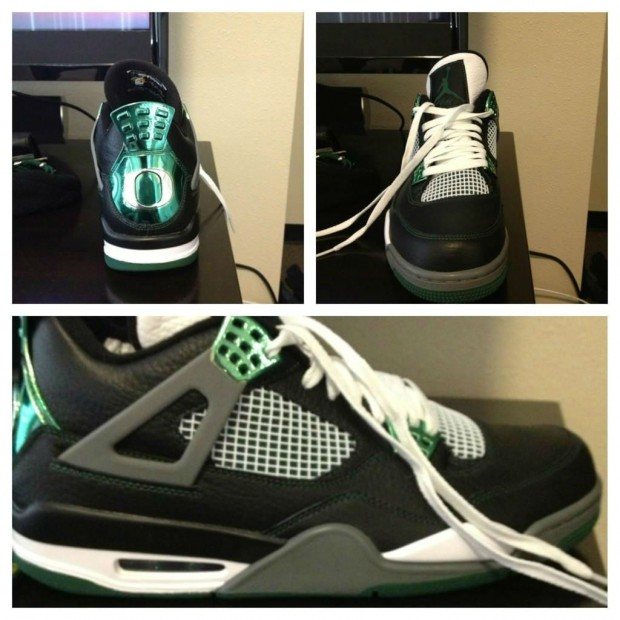 promo code 0bb6b 00c50 Nike Rumble  Air Jordan 4 Retro - Oregon Ducks PE