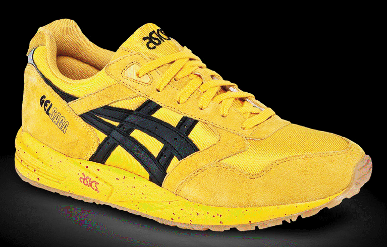 Asics Gel Saga Yellow Black