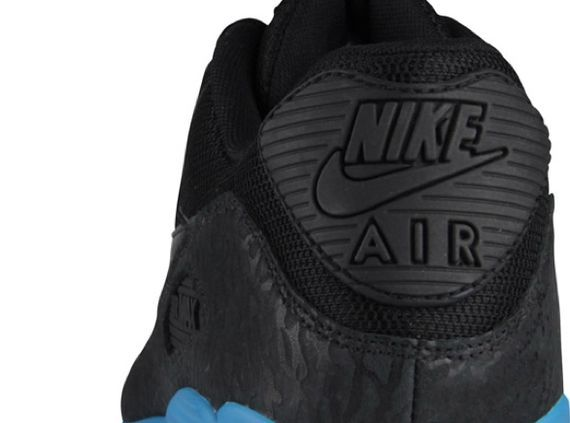 Promo Code For Mens Nike Air Max 90 Glow - Nike Air Max 90 Black Blue Glow Cement Print