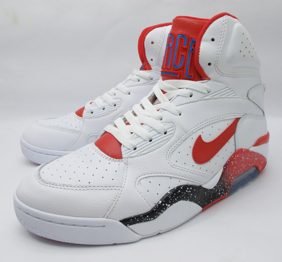 Nike Air Force 180 Mid – White – Hyper Red – Photo Blue