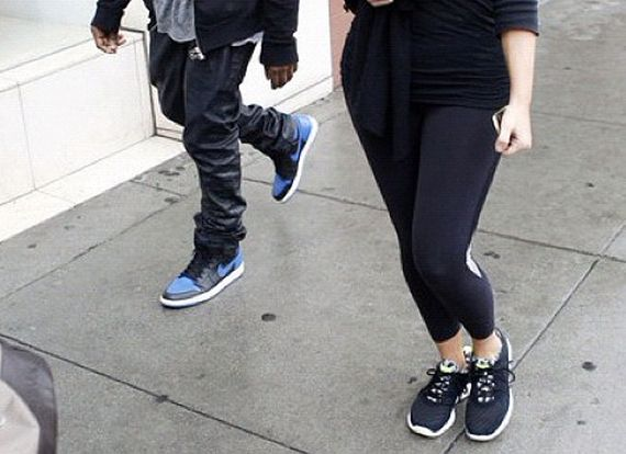 Kanye West Rocks the Air Jordan 1 High    Royal       AgainJordan 1 Royal Blue Kanye