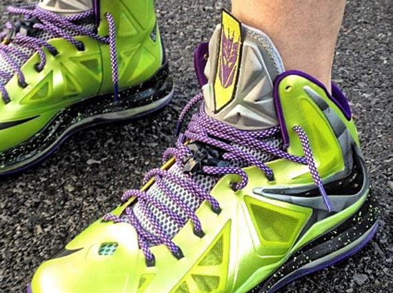 46b40301d75 Mache continues to dominate the Custom Sneaker Scene with another  Transformers inspired Lebron 10 ...