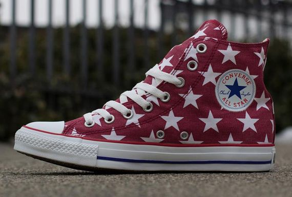 Converse All Star Hi - Jester Red - Stars