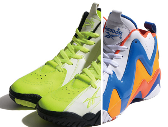 Two upcoming colorways of the Reebok Kamikaze II go for a bit of an old  meets new affair. The first combo is a neon green 0bdb6b3b5