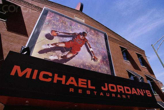 Mural Outside Michael Jordan's Restaurant