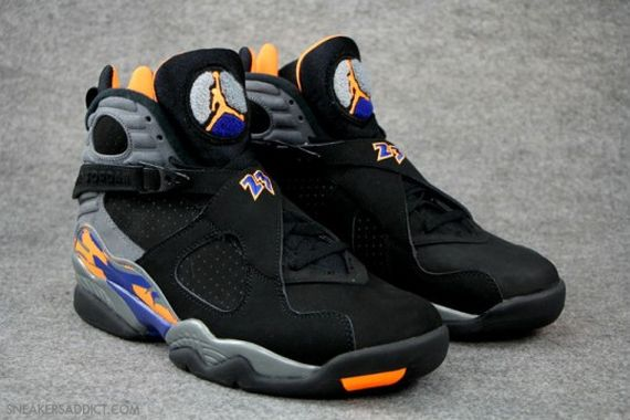 buy popular 8a1c7 b3762 The Black Bright Citrus-Deep Royal Air Jordan 8 Retro released May 18th at  authorized Jordan Brand accounts nationwide.