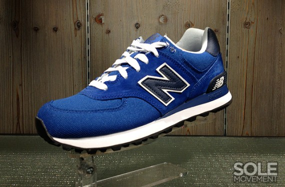 all blue new balance 574
