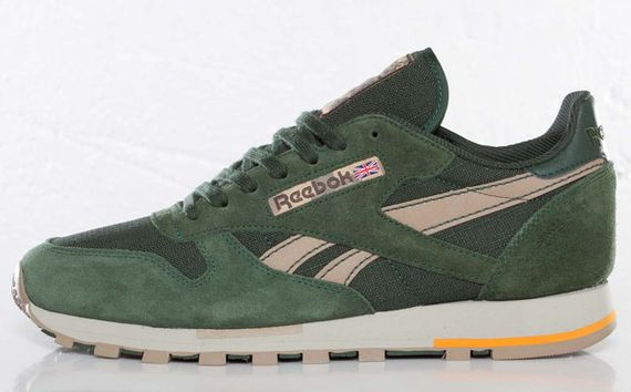 olive green-classic leather utility-reebok