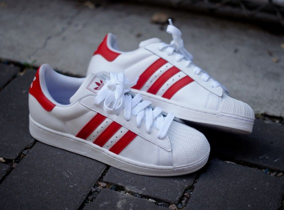 white-red-superstar II-adidas originals