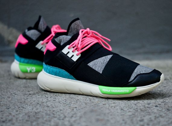 adidas-y3-qasa high-black-neon